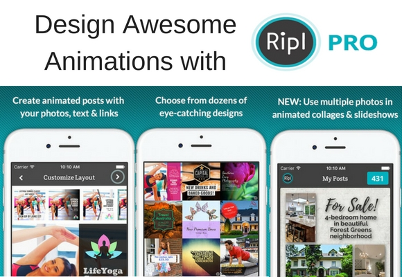 RIPL is a great tool that allows you to quickly and easily make animated gif which offer high performance and engagement on all marketing channels.